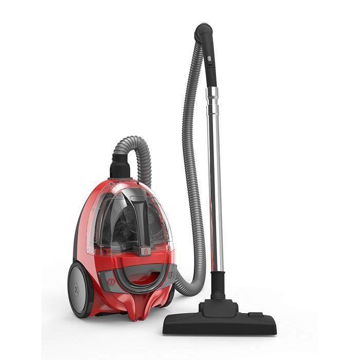 Dirt Devil BiBox Aspirateur sans Sac Rouge-Noir 1,2 L [Classe énergétique A+]