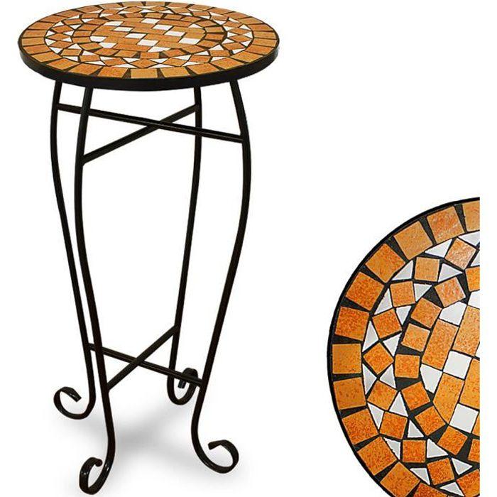 Table guéridon pot de fleur mosaique design Ger…