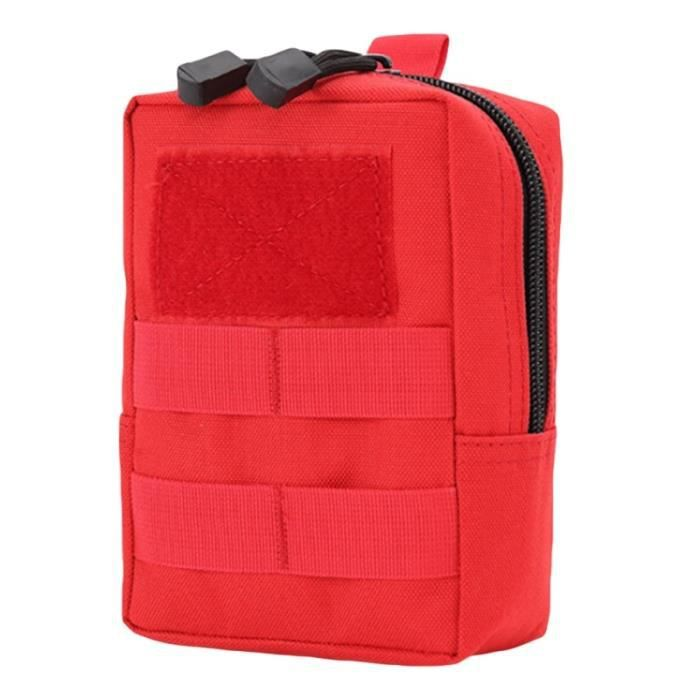 Rouge couleur -Camouflage Tactique militaire Ceinture Pochette Sac Sacs de Téléphone Molle Pochette Ceinture Camp Poche Taille Sac B