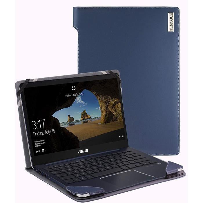 Broonel London - Profile Series - Etui bleu en cuir de luxe pour ordinateur portable pour HP Envy X360 15-