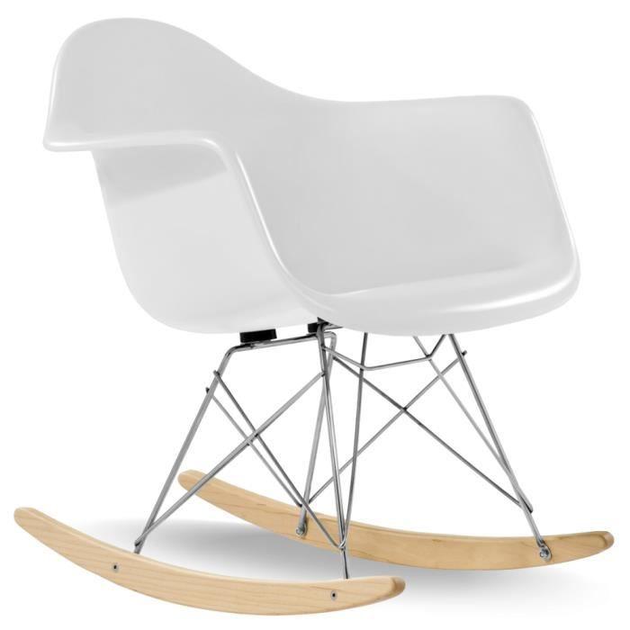 Rocking Chair style RAR blanc