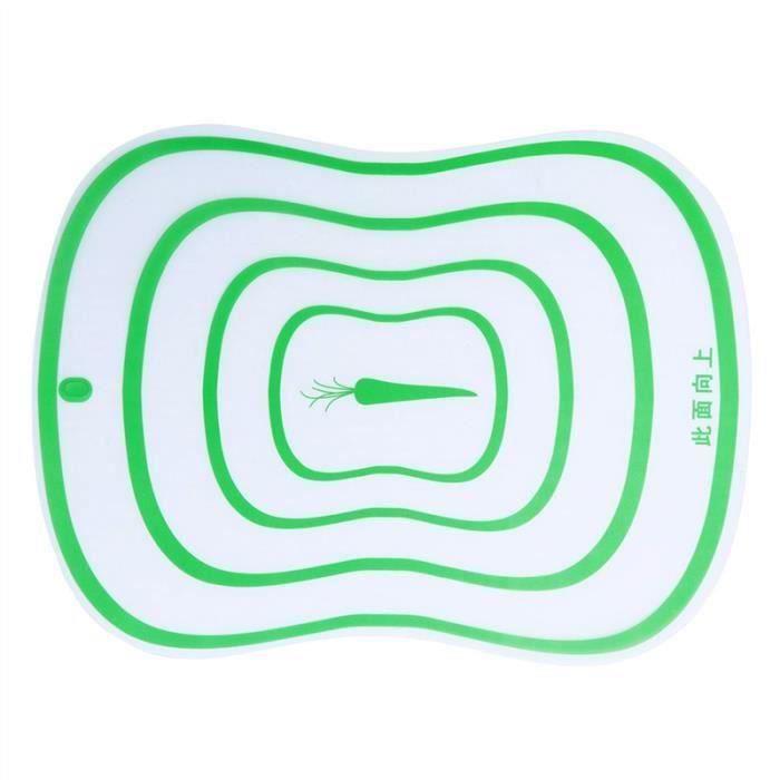 GE Planche à découper de cuisine en plastique de fruit en plastique flexible - grande taille (vert) - GECYB0310A1198