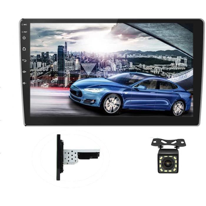 Android Autoradio GPS Écran Tactile Complet 10 Pouces Bluetooth WiFi Récepteur FM Auto Radio Téléphone Mobile Lien Double USB +[427]