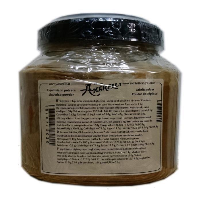 Réglisse Amarelli - Réglisse en poudre - 1 Kg - Liquirizia Amarelli - Epicerie Italienne