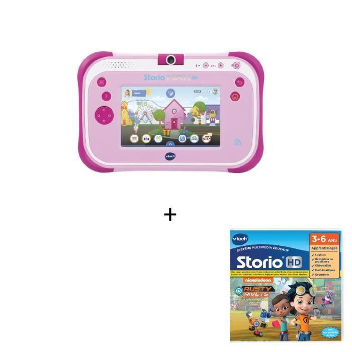 VTECH - Tablette STORIO MAX 2.0 rose + Jeu HD Storio RUSTY RIVETS