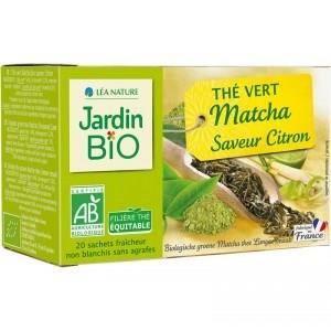 JARDIN BIO Thé vert Matcha saveur Citron - 30 g