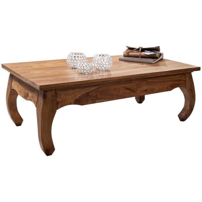 FineBuy Table Basse Bois Massif 110x40x60cm Table d'appoint Table de salon [Sheesham]