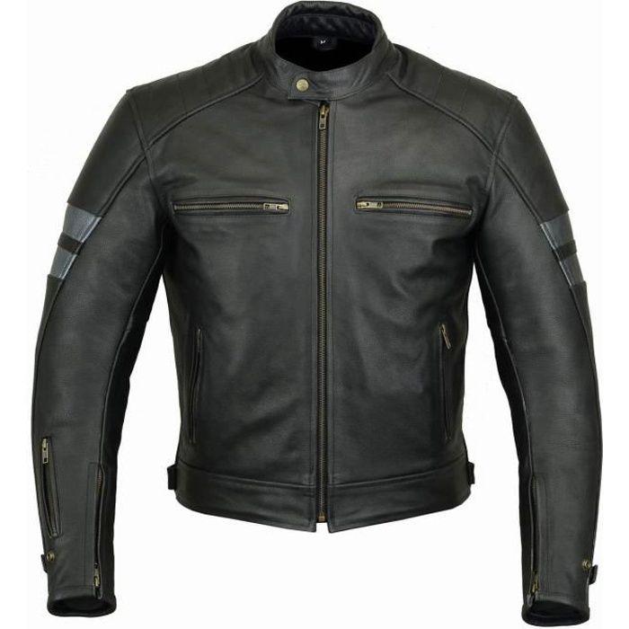 Blouson cuir moto DJORNO