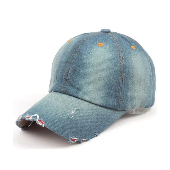 Gant Moufle R5GQ2 Denim Casquettes Vintage Baseball Caps style simple bracelet de baseball Chapeau réglable Taille-M