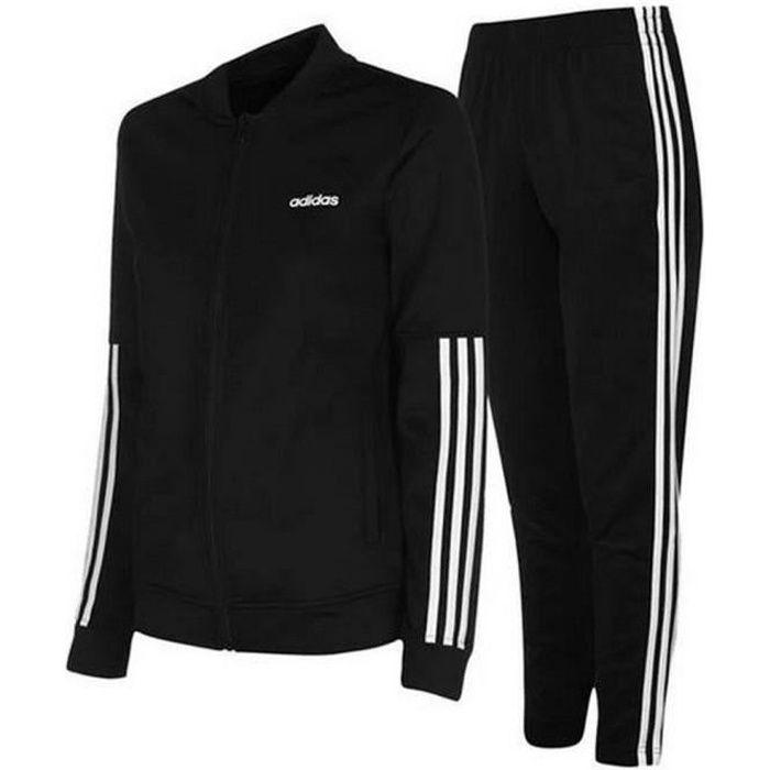 Jogging Noir Femme Adidas 3 Bandes