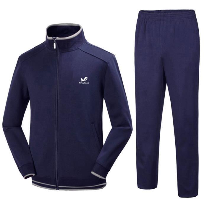 Hommes automne hiver solide sweat hauts pantalons ensembles survêtement de sport LDM90923022NYL2_yan