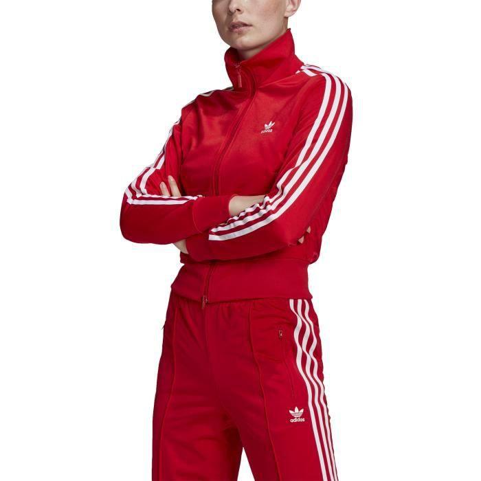 Adidas Originals Veste De Survêtement pour Femme Adicolor Classics Firebird Primeblue Rouge
