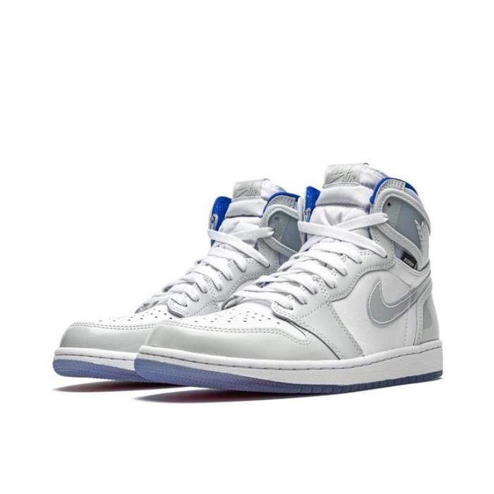 Air Jordan 1 Zoom Racer Blue Chaussures de Sport Basket AJ 1 Pas Cher pour Homme Femme Blue