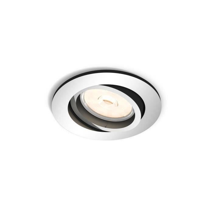 Philips myLiving Spot à encastrer 5039111PN, Recessed lighting spot, GU10, 1 ampoule(s), LED, 220-240, Chrome