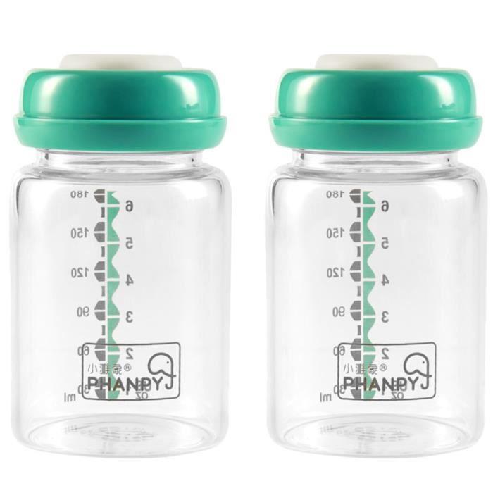 2pcs biberon d'allaitement en verre propre portable pour bébé maman à l'extérieur (grande taille) COFFRET BIBERONS