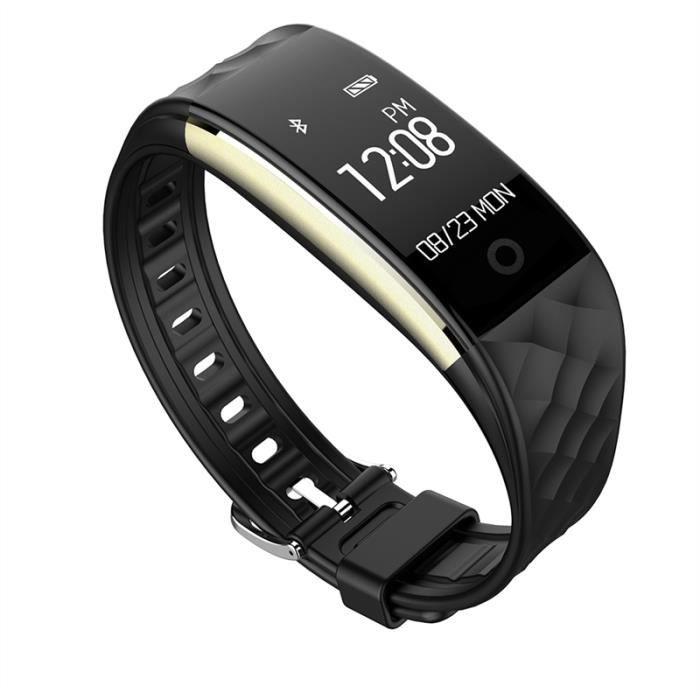 S2 0,96 pouces OLED écran BRACELET D'ACTIVITE Fitness Tracker IP67 Podomètre étanche caméra pour Android 4.4 iOS 8.0 (Noir)