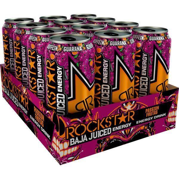 Rockstar Baja Juiced Passion Frutas 0,5l (Pack de 12)
