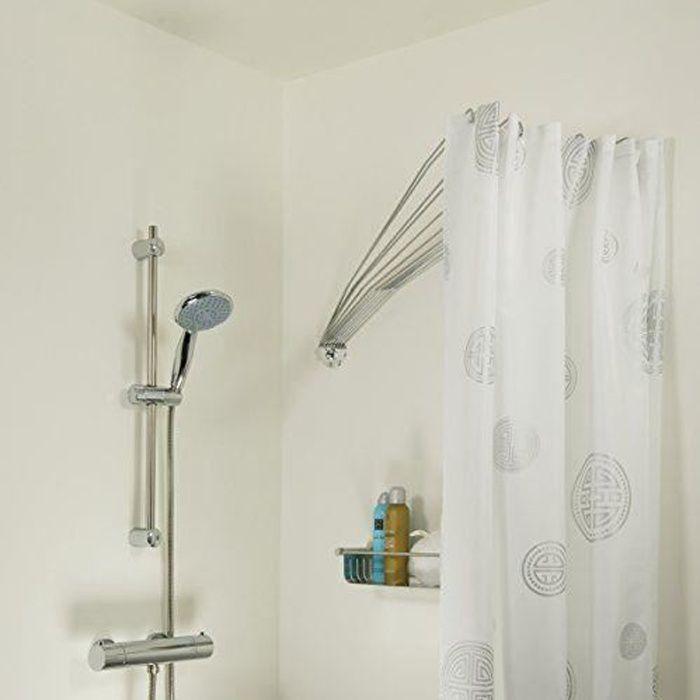 Sealskin 272226304araignée parapluie la douche flexible duschfalt Cabine, duchvorhangstange, métal, chromé, 80x 140x 5cm