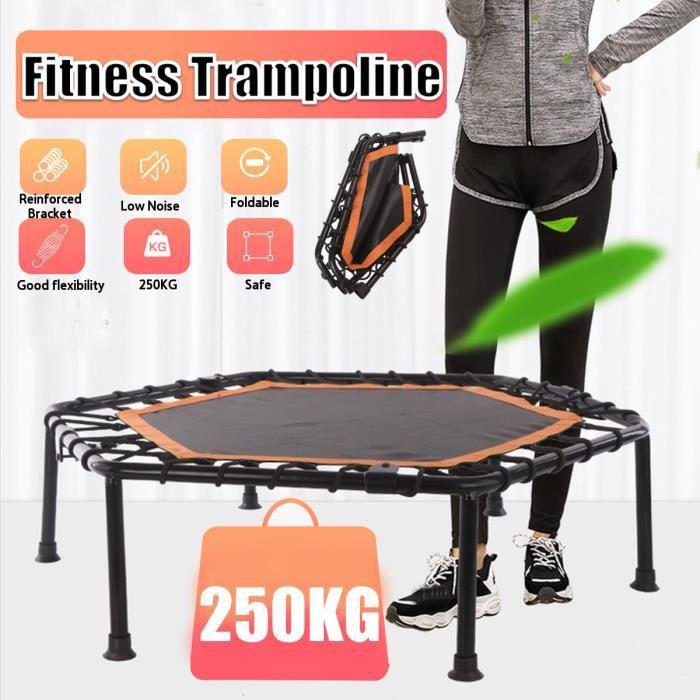 AVANC 40pouces Trampoline de Fitness Rembourrage sans barre de poignée réglable intérieur rebond à l'élastique saut d'entraînement