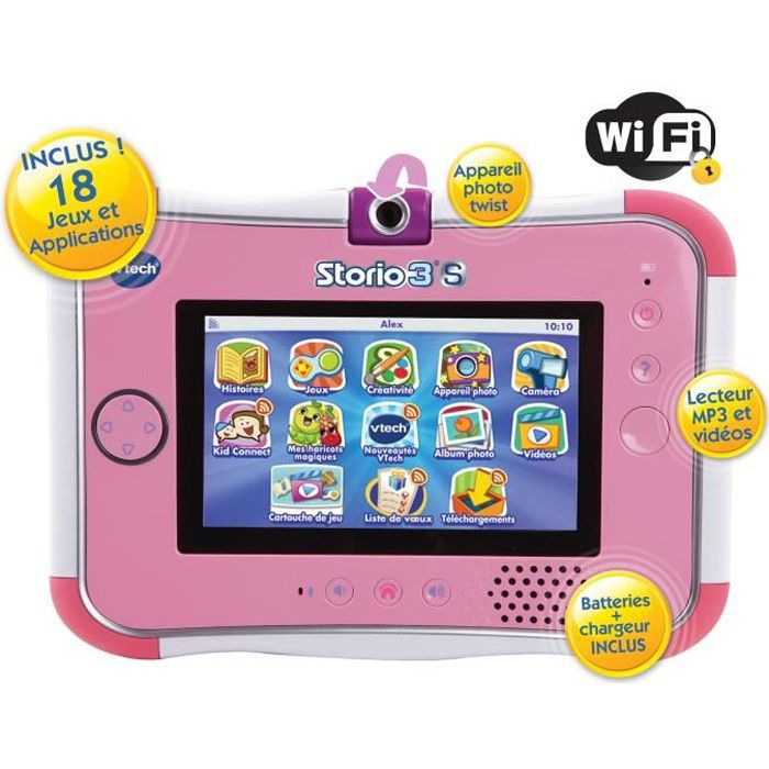 VTECH Tablette Storio 3S Rose (Sans Power Pack)