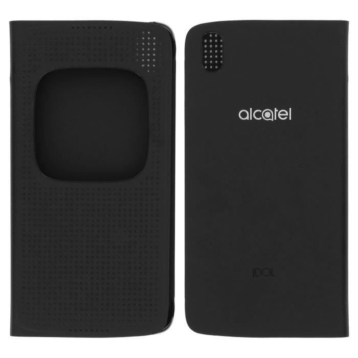 best service a00c2 1a62b Etui Clapet Fenêtre Intelligente Noir Alcatel Idol 4 - Alcatel Matrix  FlipCase