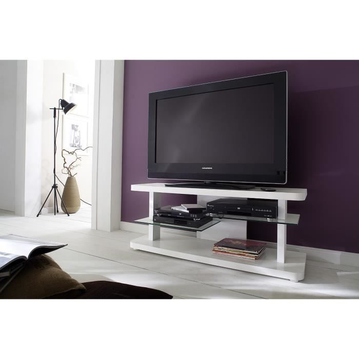 Meuble tv hifi vid o 110 cm calcutta l 110 x p 4 achat for Meuble tv 110 cm fly