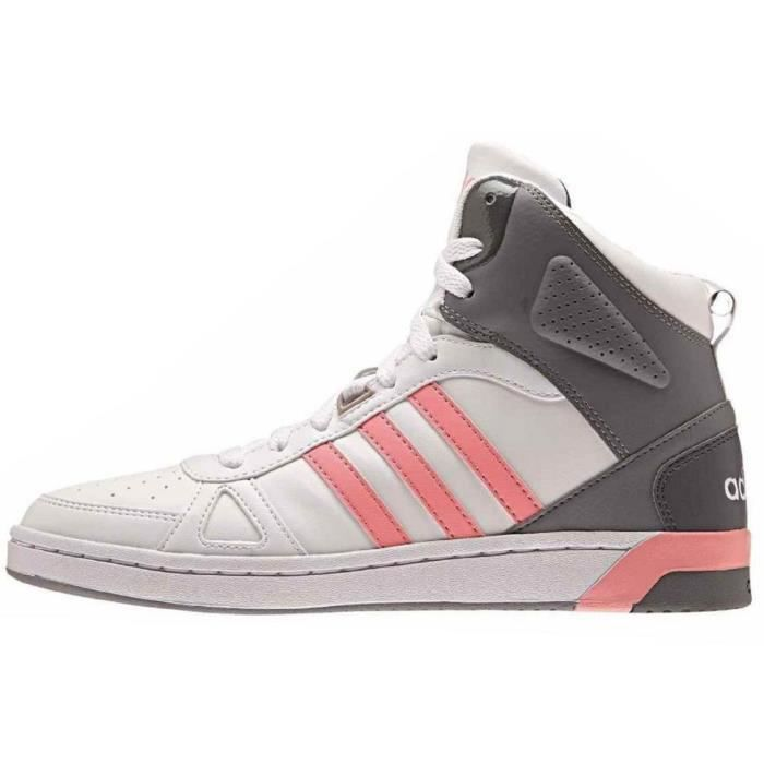 ADIDAS NEO Baskets Hoops Team Mid Chaussures Femme Blanc et