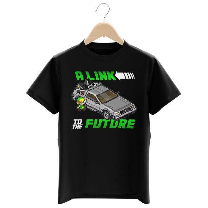 T-SHIRT T-shirt Enfant Noir Zelda parodique Link et la Del