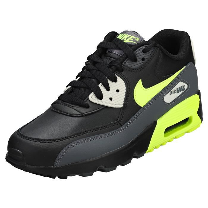 NIKE AIR MAX 90 JUNIOR NOIR Gris noir Achat Vente basket