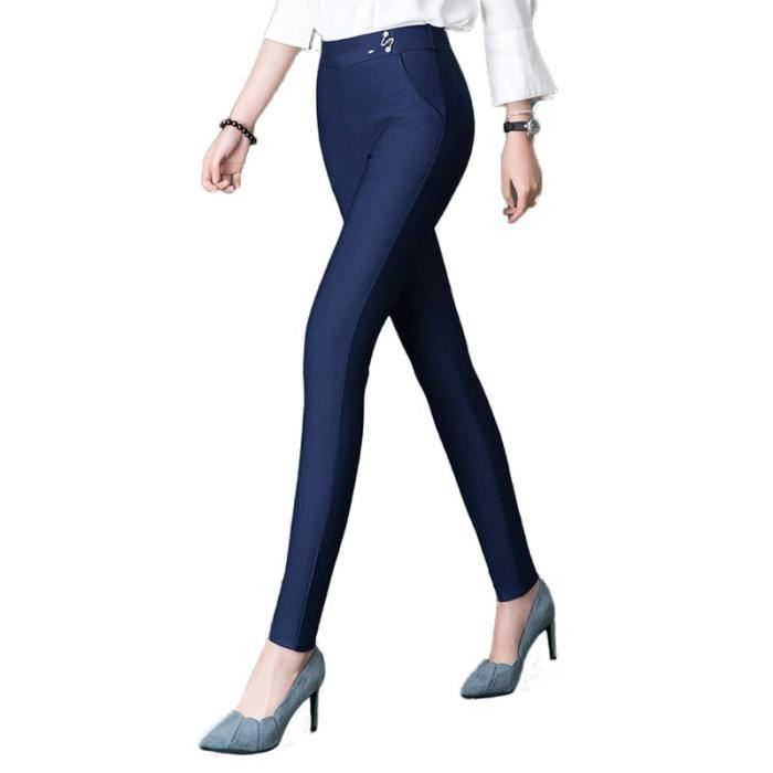 Women/'s kaki coton 5 poches coupe skinny Figure flatteur Jeggings