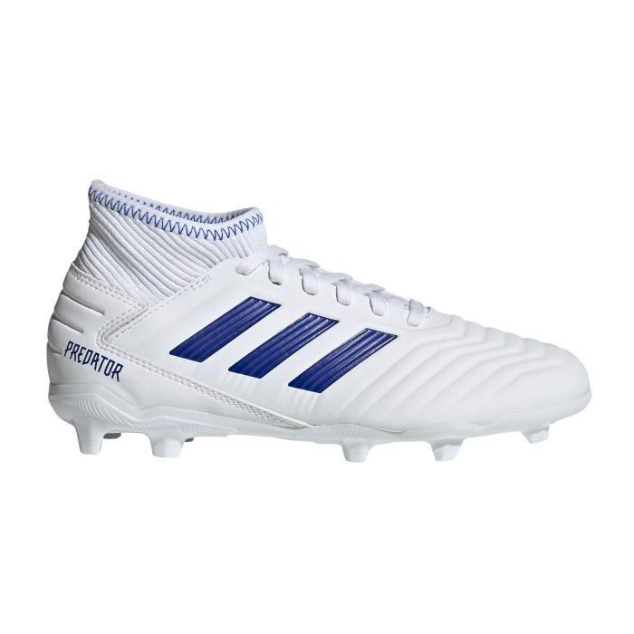 get online new specials look out for Chaussures Football Adidas Predator 19.3 Fg Blanc-Bleu Junior