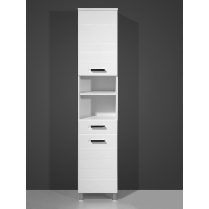 armoire haute avec 2 portes tiroir et tablette achat. Black Bedroom Furniture Sets. Home Design Ideas