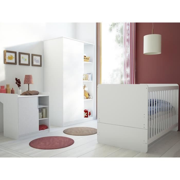 Chambre Bebe Maxime Complete Couleur Marketing Blanc