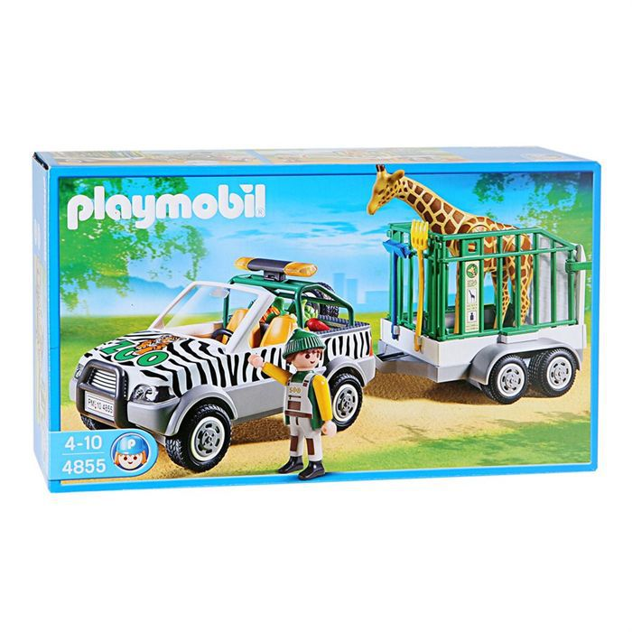 playmobil 4855 v hicule de zoo achat vente univers miniature les soldes sur cdiscount. Black Bedroom Furniture Sets. Home Design Ideas
