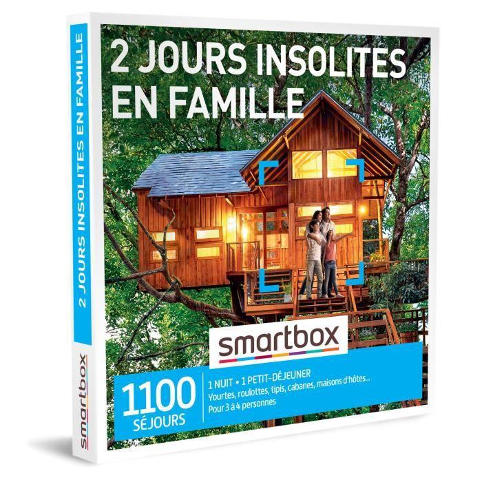 COFFRET SÉJOUR SMARTBOX - Coffret Cadeau - 2 jours insolites en f