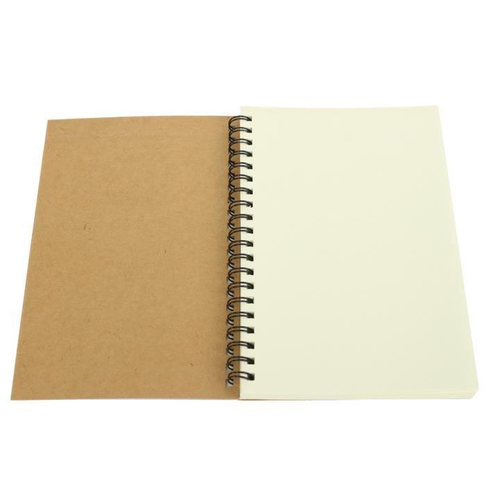 Set Couleur Crayons A5 160gsm Sketch Pad dessin blanc artiste papier Spirale Livre