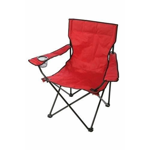 fauteuil chaise de camping pliant hi tech l ger rouge support boisson achat vente chaise de. Black Bedroom Furniture Sets. Home Design Ideas