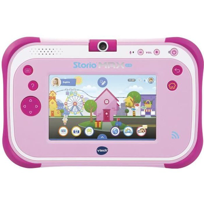 Vtech tablette storio max 2 0 5 rose achat vente jeu for Housse storio max 5