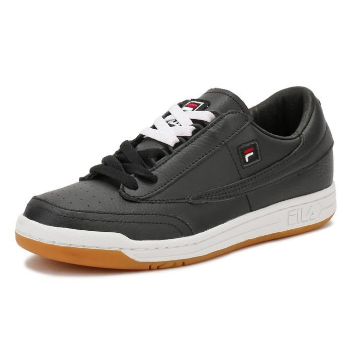 Fila Homme Noir - White - Gum Original Tennis Baskets-UK 10 XSeX6HR