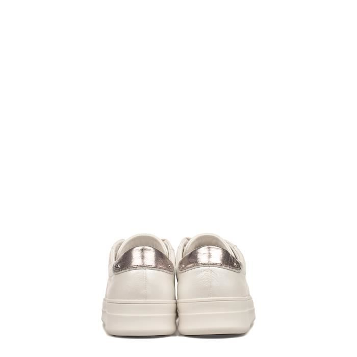 CRIME LONDON FEMME 25624KS110 BLANC CUIR BASKETS