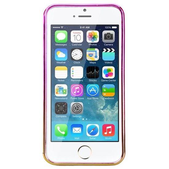 Coque iPhone 5S - SE - 5 Silicone Souple Sables Mouvants TPU Cas ...
