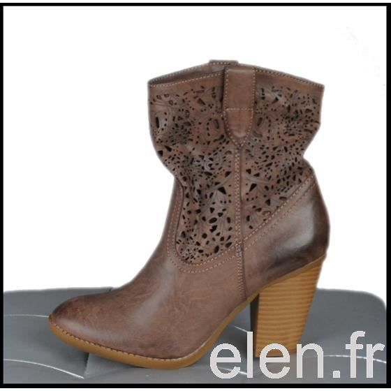 ☼ELEN☼ Bottines à talon - FRANCESCO MILANO - Ref: 0200