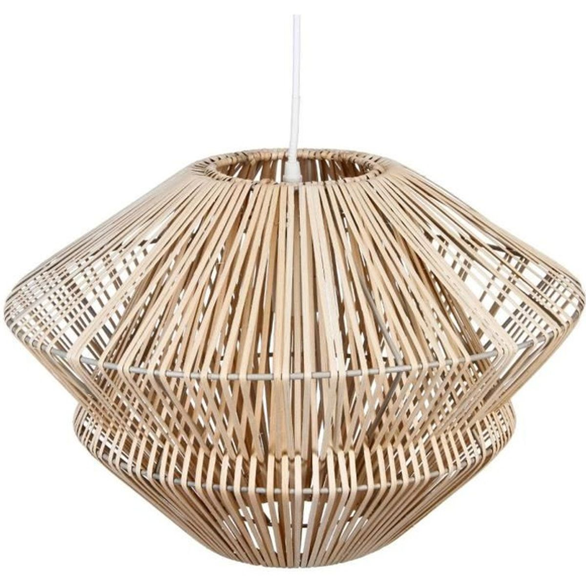 Lustre rotin for Lustre en suspension