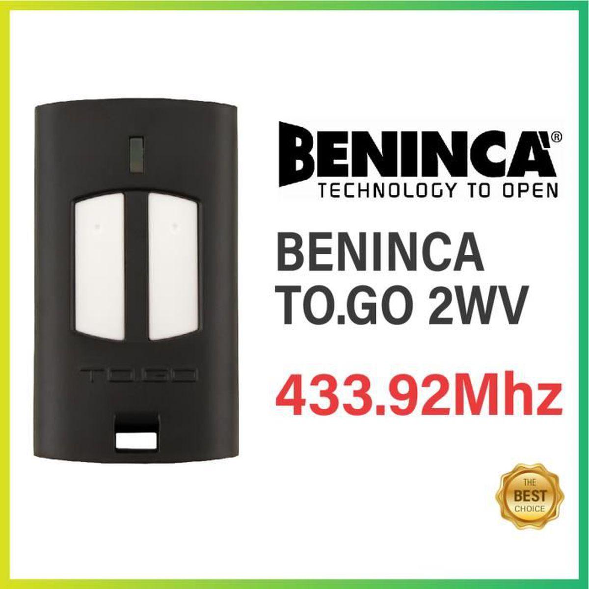 3/X transmetteur beninca to.GO 2wv Code Fixe de MHz