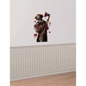 D coration murale halloween achat vente d coration for Decoration fenetre clown