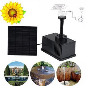 FONTAINE DE JARDIN iportan® Panneau solaire d'eau d'alimentation Font