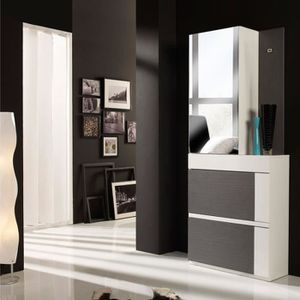 meuble d entree porte manteau blanc achat vente meuble. Black Bedroom Furniture Sets. Home Design Ideas