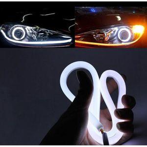 ALLUMAGE AUTO DES FEUX 2pcs 60cm DRL Tube bande LED Blanc 12V 6W 6000K Fe