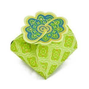 Boîte cadeau Boite en papier Florets Ispahan 5 pièces Anis - Pa