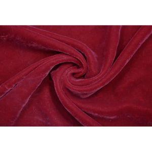 TISSU Tissu Velours Velvet Uni Rouge -Au Mètre